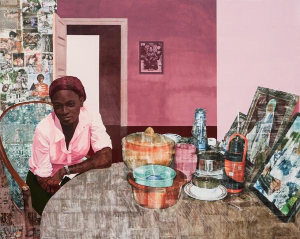 Njideka Akunyili Crosby, Mama, Mummy and Mamma (Predecessors #2), 2014