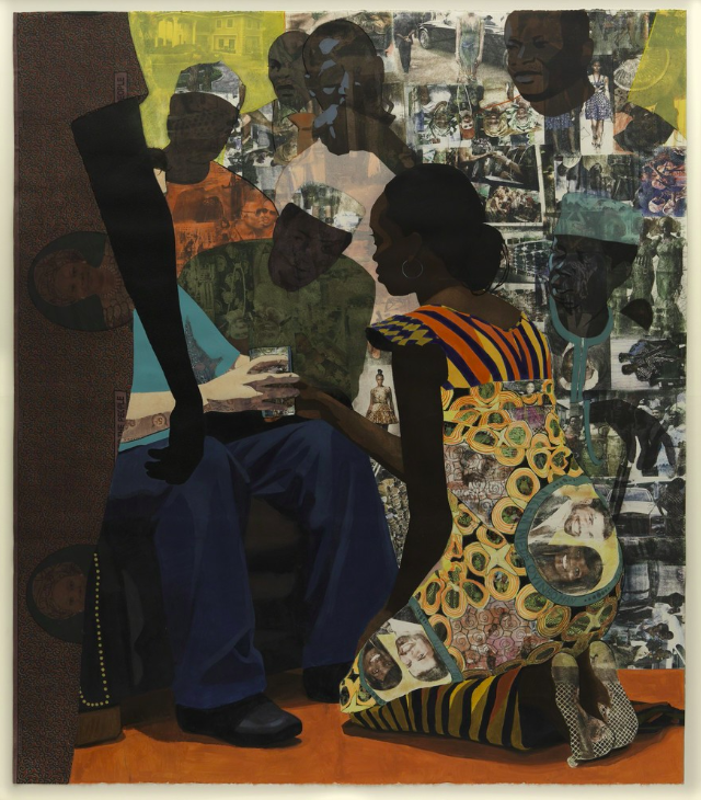 Njideka Akunyili Crosby, Wedding Portrait, 2012