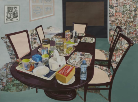 Njideka Akunyili Crosby, Tea Time in New Haven Enugu, 2014